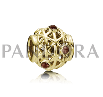 Pandora Rhodolith, Element aus Gold. 750508RHL