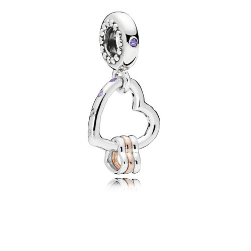 "Pandora Rose Charm-Anhänger ""Heart Highlights"" 787247NLCMX"