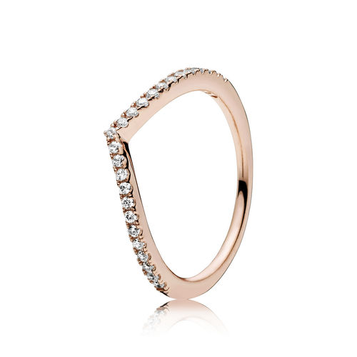 "Pandora Rose Ring ""Shimmering Wish "" 186316CZ"