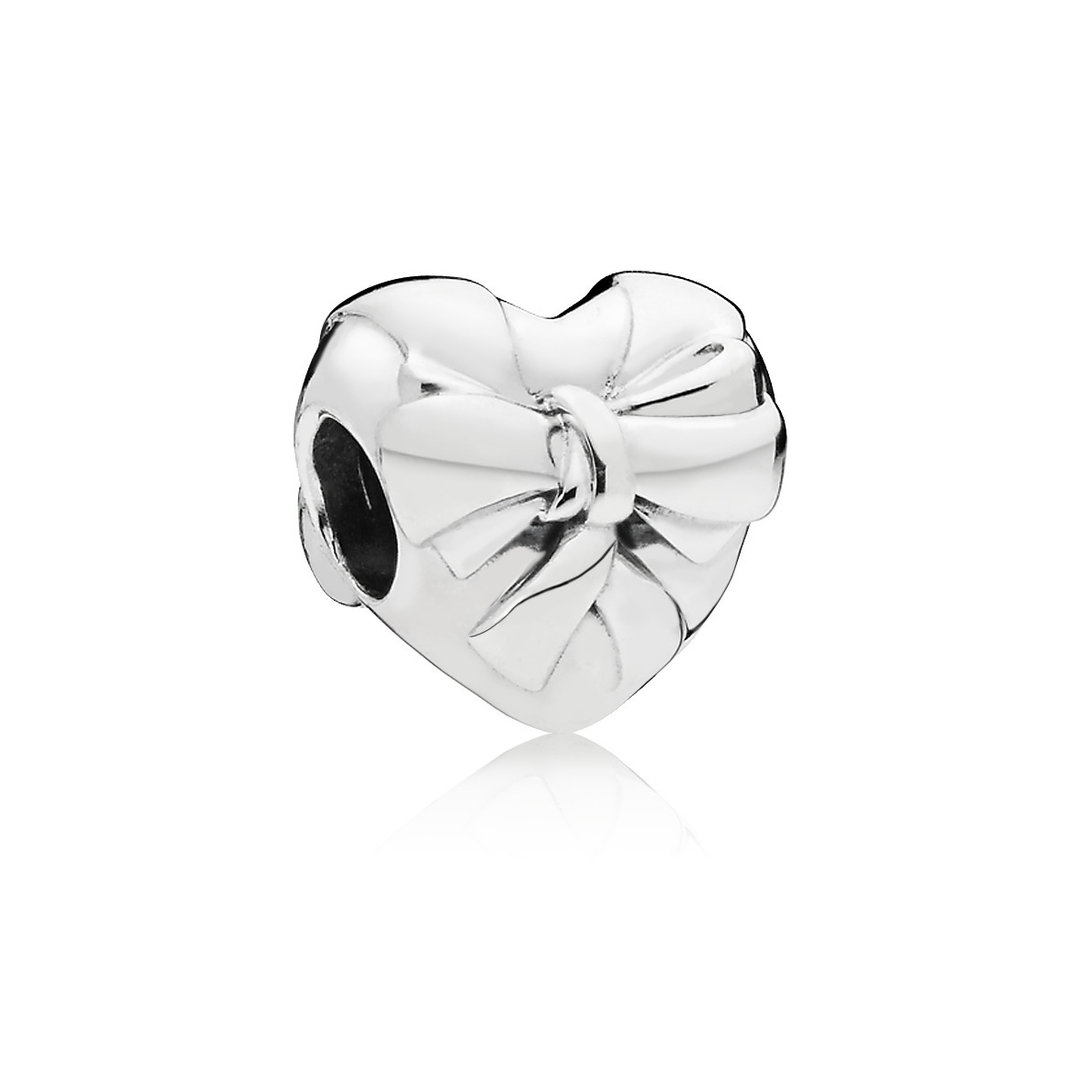 "Pandora Charm ""Brilliant Heart Bow""  797303"