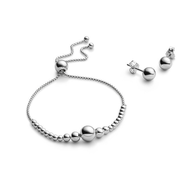 "Pandora Armband Geschenk-Set "" String of Beads & Calssic Beads "" B801036"
