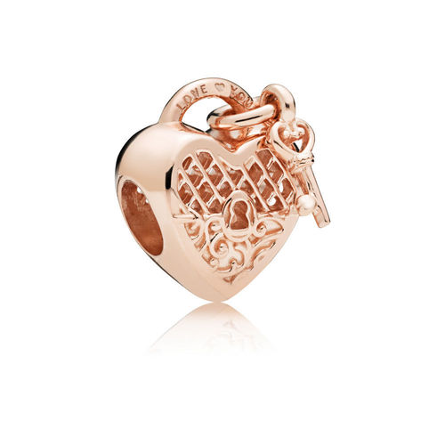 "Pandora Rose Charm ""Love You Lock""  787655"