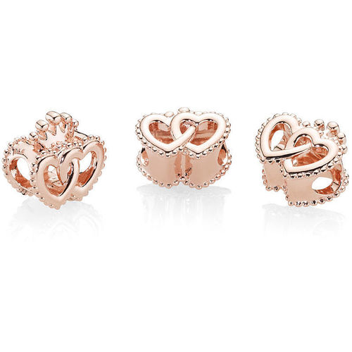 "Pandora Rose Charm ""United Regal Hearts"" 787670"