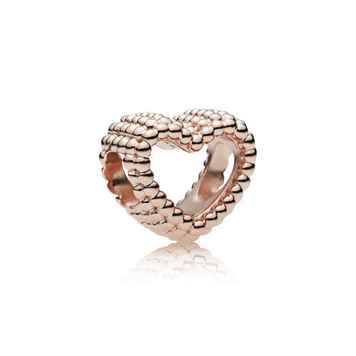 "Pandora Rose Charm ""Beaded Heart"" 787516"