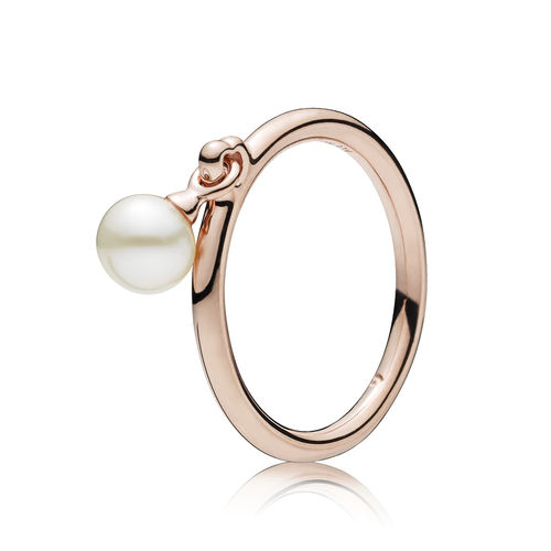 "Pandora Rose ""Contemporary Pearl"" Ring 187525P"