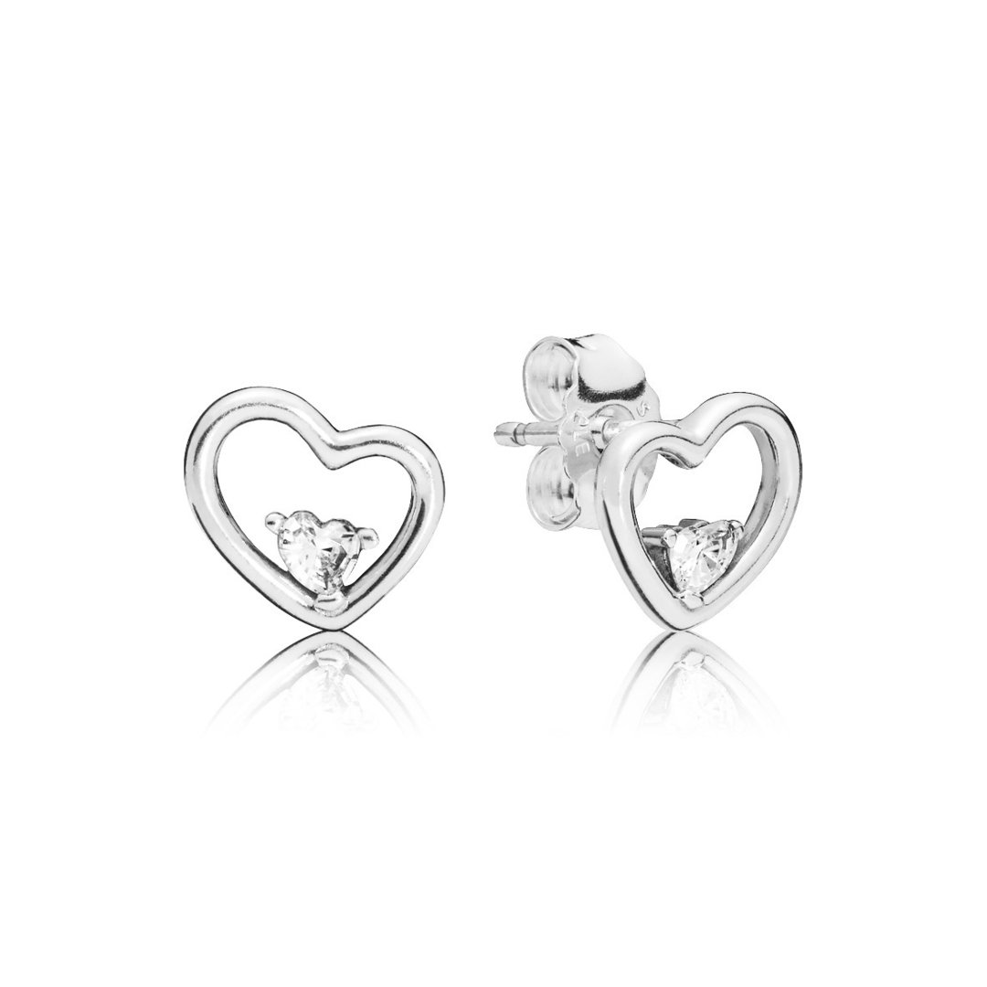 "Pandora Ohrstecker ""Asymmetric Hearts of Love"" 297813CZ"