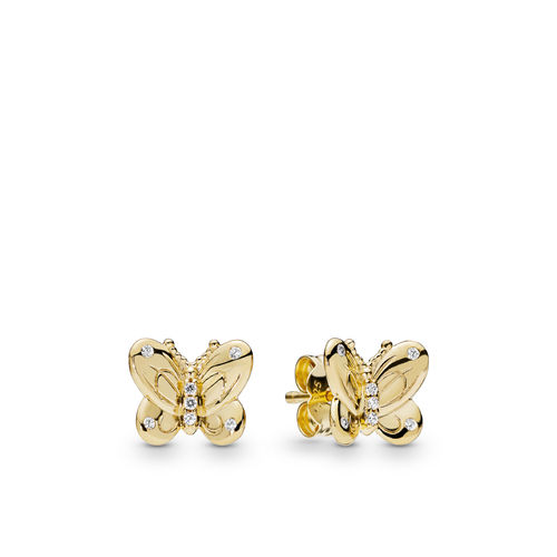 "PANDORA SHINE Ohrstecker ""Decorative Butterflies"" 267921CZ"