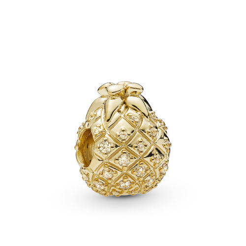 "PANDORA SHINE Charm ""Golden Pineapple"" 767904CZ"