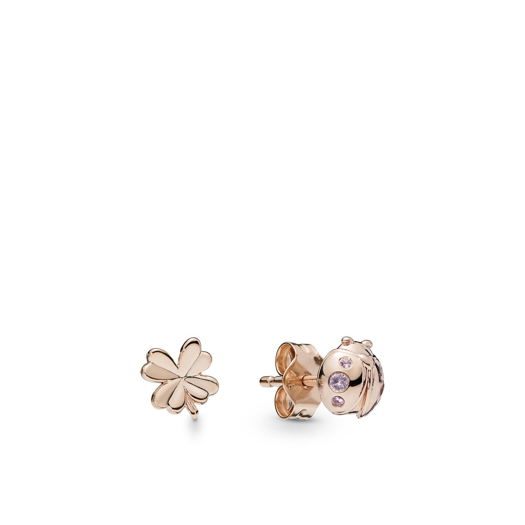 "Pandora Rose Ohrstecker ""Four-Leaf & Ladybird"" 287960NPO"