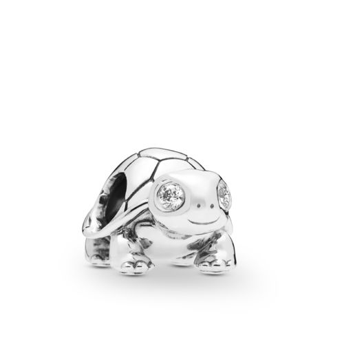 "Pandora Charm ""Bright-Eyed Turtle"" 797878CZ"