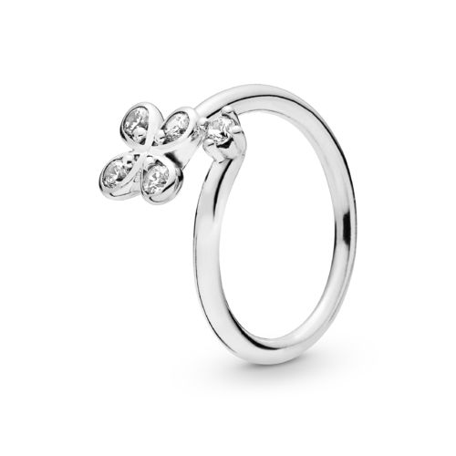 "Pandora Ring ""Four-Petal Flower"" 197988CZ"