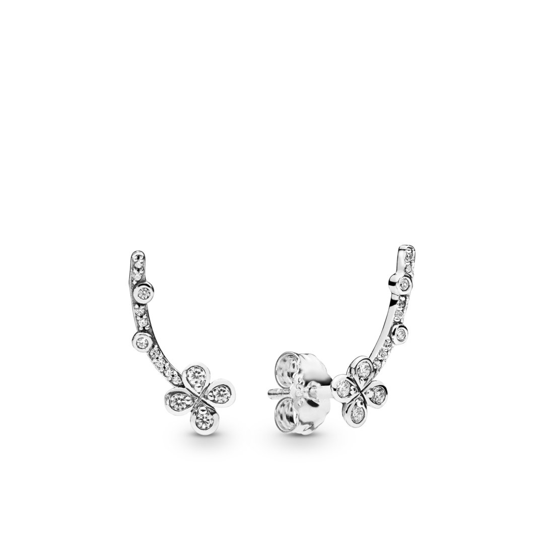 "Pandora Ohrstecker ""Draped Four-Petal Flowers "" 297936CZ"