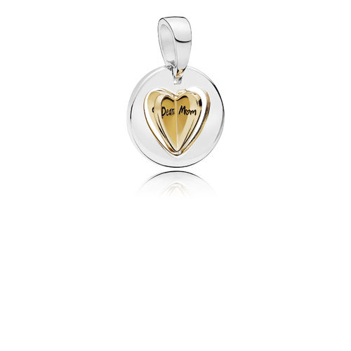 "PANDORA SHINE Charm ""Mum´s Golden Heart"" 767774"