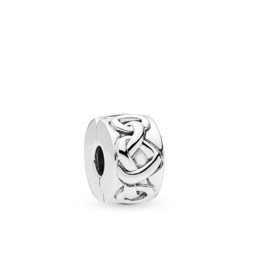"Pandora Clip ""Knotted Hearts"" 798035"