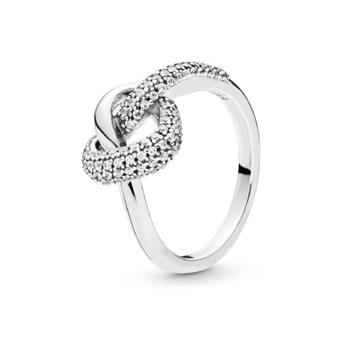 "Pandora Ring ""Knotted Heart"" 198086CZ"