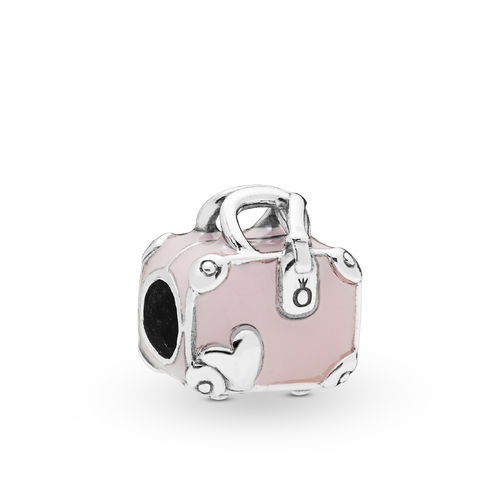 "Pandora Charm ""Pink Travel Bag"" 798063EN124"